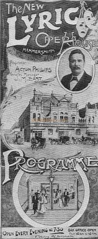 An early programme for the Lyric Opera House, Hammersmith