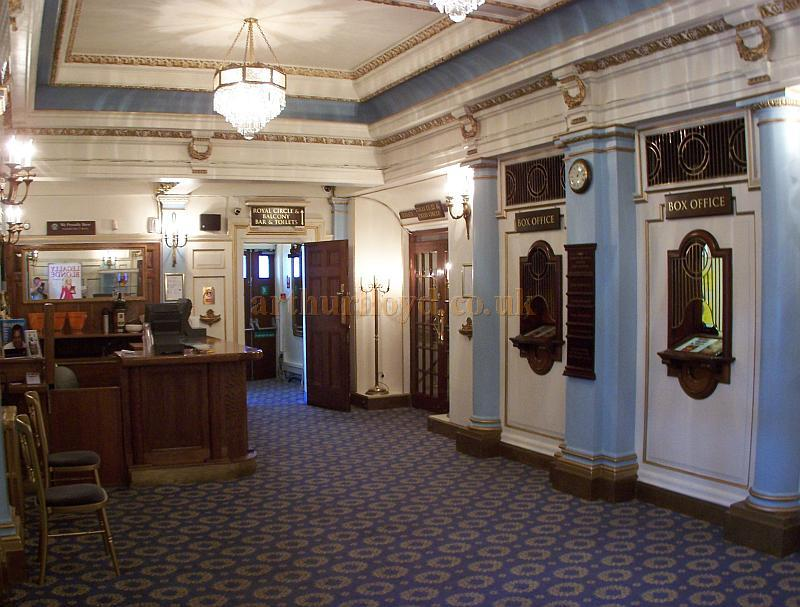 The 1950s redecorated Foyer, Box Office, and Dress Circle Bar of the Harold Pinter Theatre in September 2009  - Photo M.L.