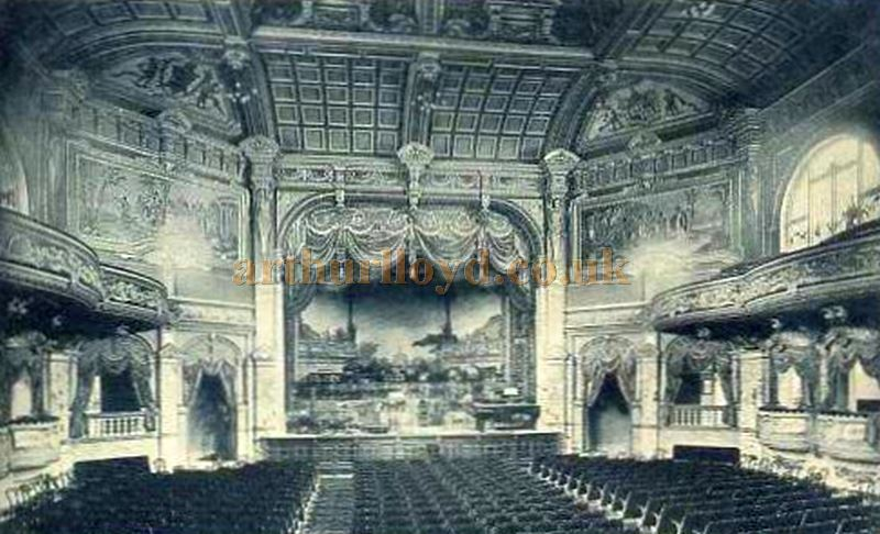 An Early Photograph showing the interior of the Harrogate Kursaal
