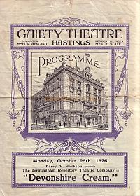 A Gaiety Theatre Programme for October the 25th 1926.