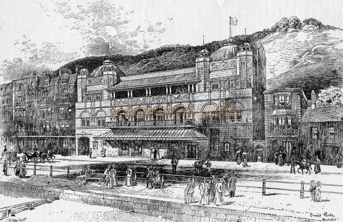 Drawing of the Empire Theatre of Varieties, Hastings - From 'The Playgoer' 1901 - Courtesy Iain Wotherspoon.