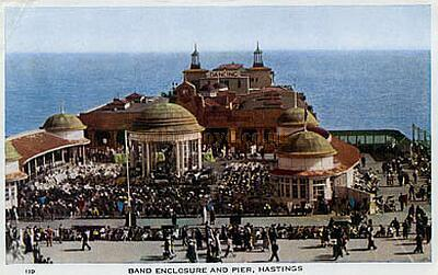 A postcard of the Pier Pavilion Hastings