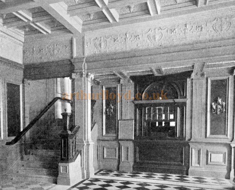 The Foyer and Ticket Office at Her Majesty's Theatre when it first opened in 1897 - From 'Modern Opera Houses and Theatres' by Edwin O Sachs, Published 1896-1898, and held at the Library of the Technical University (TU) in Delft - Kindly sent in by John Otto.