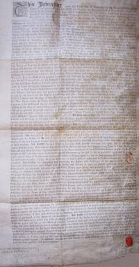 An Indenture for the King's Theatre, Haymarket signed on the 10th of November 1794 - Courtesy John Davies - Click to Enlarge.