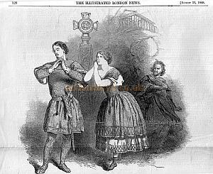 'The Illustrated London News' August 26th 1848 reports on Jenny Lind at Her Majesty's Theatre. Click for more information.