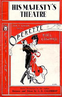 Programme for Noel Coward's 'Operette' at His Majesty's Theatre in 1938.