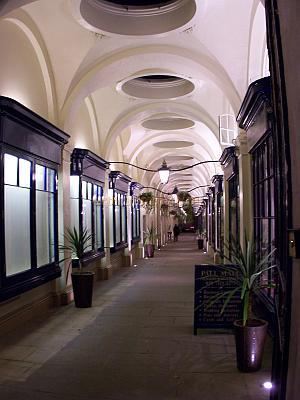 The Royal Opera Arcade, designed by John Nash, behind Her Majesty's Theatre in October 2006 - Photo M.L.