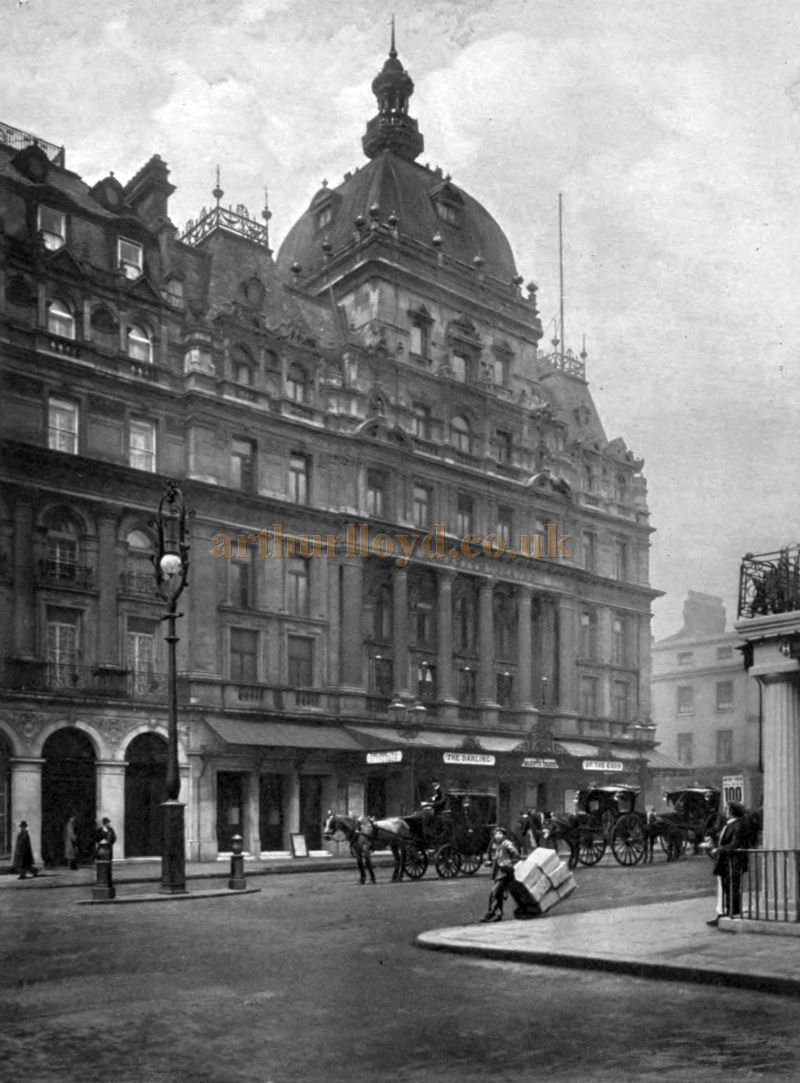 His Majesty's Theatre during the run of 'The Darling of the Gods' in 1904 - From 'Living London' Volume II Section I by George R. Sims.