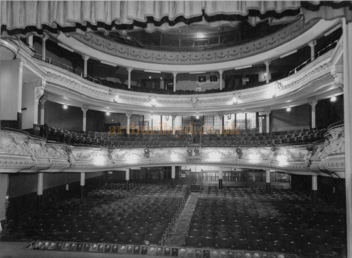 The auditorium of the Theatre Royal, Huddersfield in a photograph taken during the week of the very last show (Sailor Beware) at the Theatre before its closure and eventual demolition - Courtesy Anthony Hartwell.
