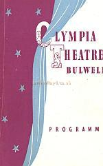 Variety Programme for the Olympia Theatre, Bulwell - Courtesy Alan Chudley.