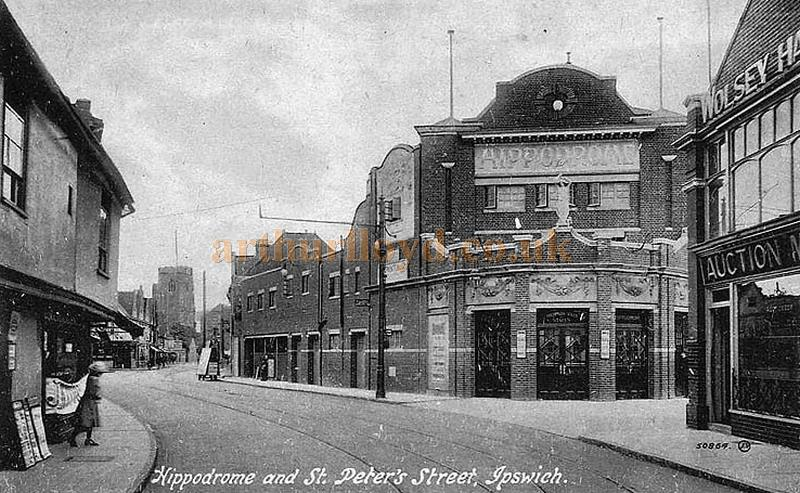 An early postcard showing the Ipswich Hippodrome Theatre - Courtesy Graeme Smith