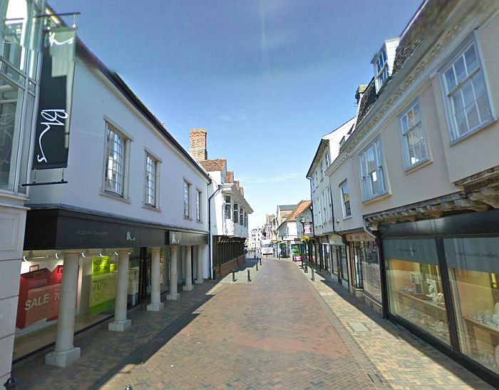 A Google StreetView Image of the site of the former Ritz Cinema, Ipswich - Click to Interact