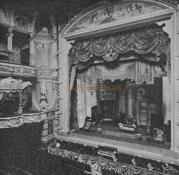 The auditorium of the Gaiety Theatre and Opera House, Douglas, Isle of Man - From The Playgoer of 1902 - Courtesy Iain Wotherspoon