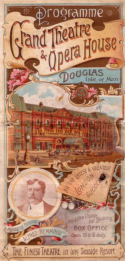 A Programme Mr. Mouillot's Company in Seymour Hicks' and Harry Nicholls' 'A Runaway Girl' at the Grand Theatre, Isle of Man on the 16th of September 1901.