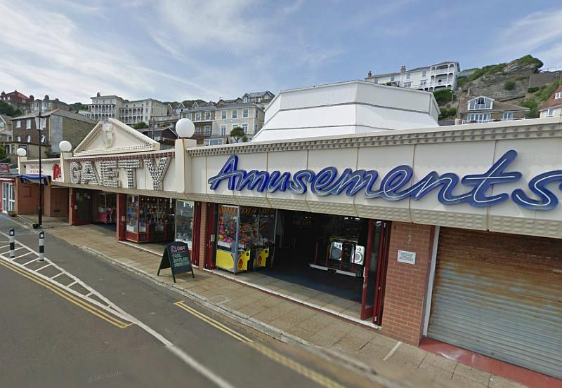 A Google Streetview image of the former Grand Pavilion, Ventnor Esplanade, Isle of Wight - Click to Interact