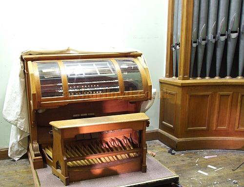 The original organ for the building housed in the Ryde Theatre, Isle of Wight, in 2009 - Courtesy Mark Price - Theatres Trust