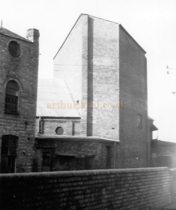 The Fly Tower of the former Grand Theatre, Kidderminster in the 1960s / 70s - Courtesy Ted Bottle.