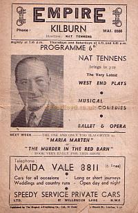 Programme for 'Room at the Inn' at the Kilburn Empire in December 1947.