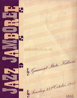 A Programme for Jazz Jamboree on Sunday the 23rd of October 1955