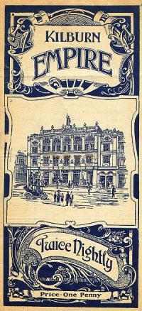 Variety Programme Cover for the Kilburn Empire - Click for details of two Variety Programmes for 1914, and one for Good-By-EE' with Harry Tate at the Theatre in 1917.