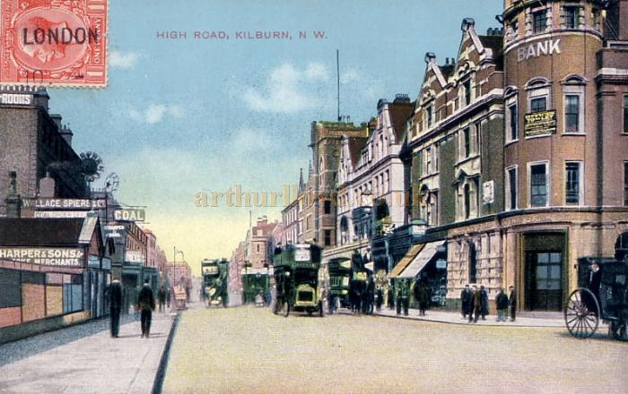 Kilburn High Road - From and early postcard