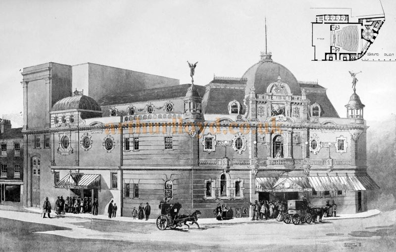 A Sketch of the Proposed Kilburn Palace of Varieties (Not Built) - From the Building News and Engineering Journal, May 26th 1899.