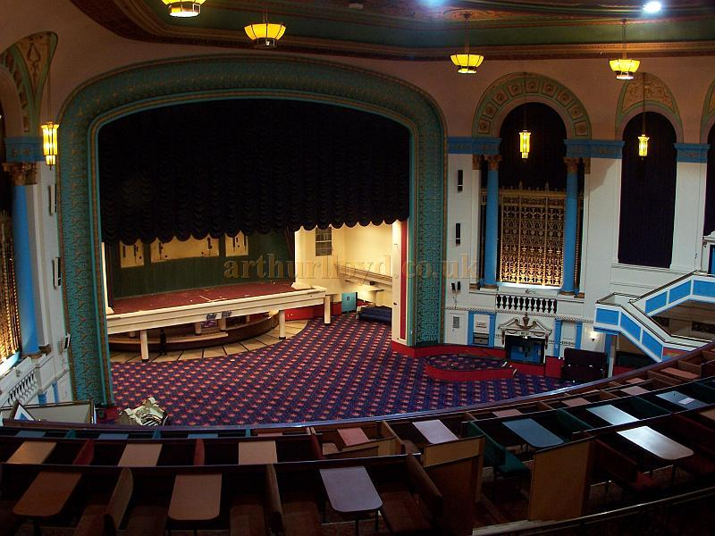 The Stage and Auditorium of the Gaumont State, Kilburn in a photograph taken from the Balcony in April 2009 - Photo M.L.