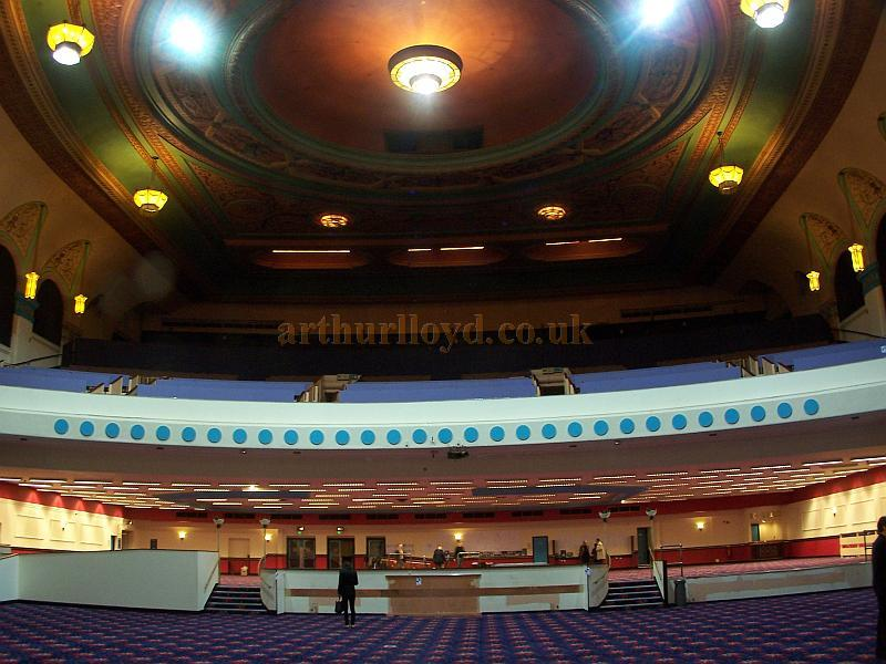 The Auditorium of the Gaumont State, Kilburn in a photograph taken from the Stage in April 2009 - Photo M.L.