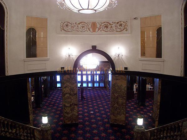 The Foyer of The Gaumont State, Kilburn in a photograph taken from the Balcony Stairs in April 2009 - Photo M. L.