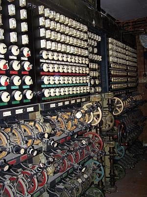 The Strand Electric Grand Master Lighting Control stll in position in the Stage Left Wing of the Gaumont State, Kilburn in April 2009 - Photo M. L.