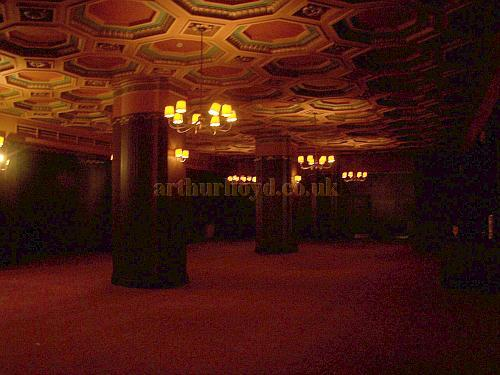 The Waiting Area and entrance to the Balcony of the Gaumont State, Kilburn in April 2009 - Photo M.L.