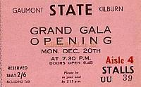 A ticket for the opening of the Gaumont State on December 20th 1937 - Click for more images and information
