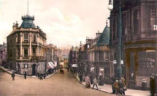 An early postcard showing George Street, Kilmarnock in the 1890s - Courtesy Graeme Smith.