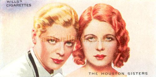 A Wills's cigarette card featuring the Houston Sisters - Courtesy Graeme Smith.