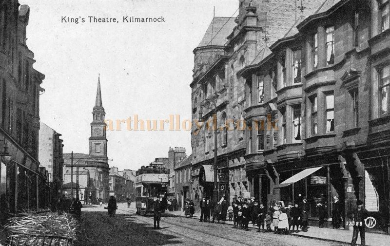 An early postcard showing the King`s Theatre, Kilmarnock - Courtesy Graeme Smith.