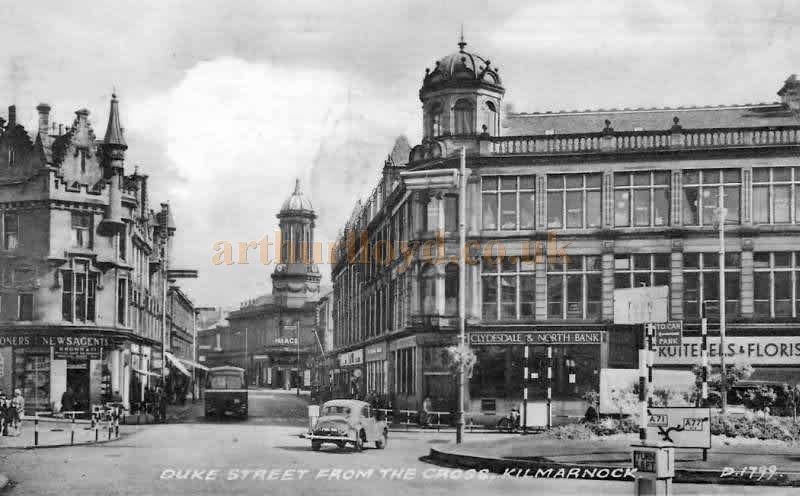 The Palace Theatre as viewed along Duke Street from Kilmarnock Cross in the 1950s - Courtesy Graeme Smith