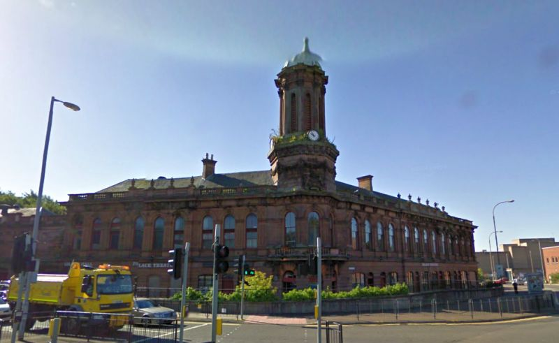 A google StreetView Image of the Palace Theatre and Corn Exchange, Kilmarnock - Click to Interact