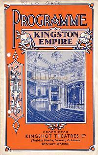 Programme for 'Wild Oats' at the Empire Theatre, Kingston, run at this time by Kingshot Theatres Ltd. - July 24th 1939