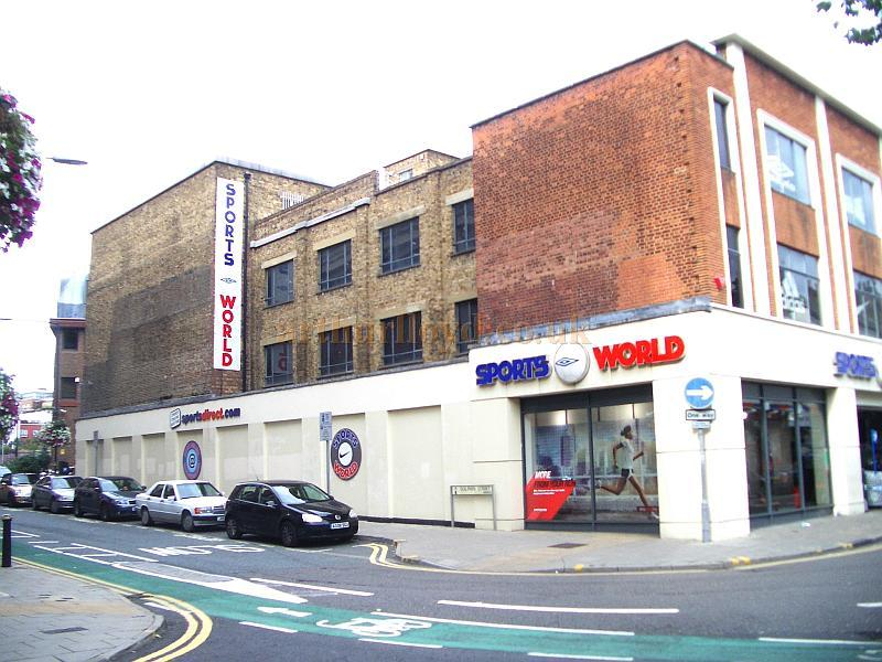 The remaining structure of the 1897 Royal County Theatre, Kingston in September 2009 when it was being used as a Sports Store called Sports World - Courtesy Roger Fox.
