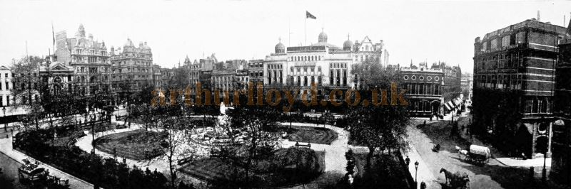 Leicester Square in 1907 - From the 'Premier Photographic View Album of London' 1907