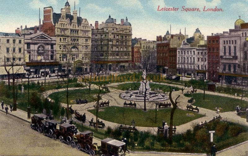 London's Leicester Square in Circa 1910