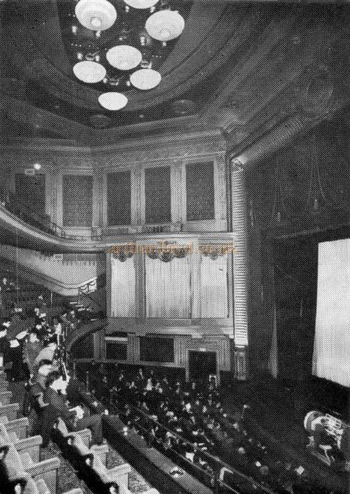 The auditorium of the Leicester Square Theatre in January 1968 - Photo by John D. Sharp from the journal of the Cinema Organ Society, June 1970 - Click for many images of the remaining fragments of the auditorium in July 2009.