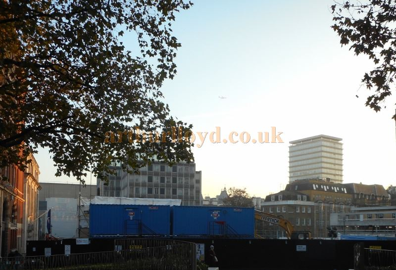 The site of the former Leicester Square Theatre / Odeon West End in November 2015 - Photo M.L.