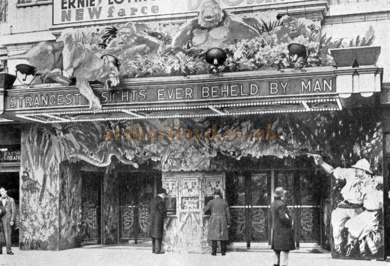 The Leicester Square Theatre during the run of the film 'East of Borneo' in 1931 - From the Bioscope, 9th of December 1931.