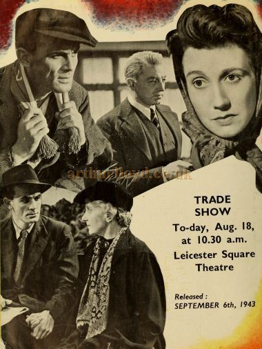 A Trade Show advertisement for 'The Flemish farm' showing at the Leicester Square Theatre in August 1943 - From 'The Cinema News and Property Gazette Technical Supplement' of 1943.