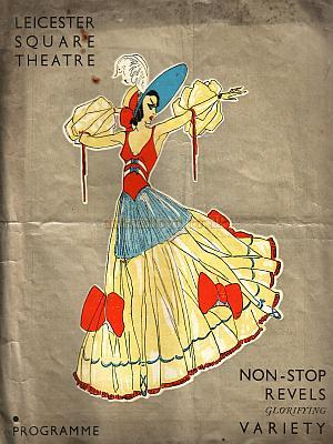 A Programme for Gordon Courtney's review 'Non-Stop Revels' at the Leicester Square Theatre in 1932.