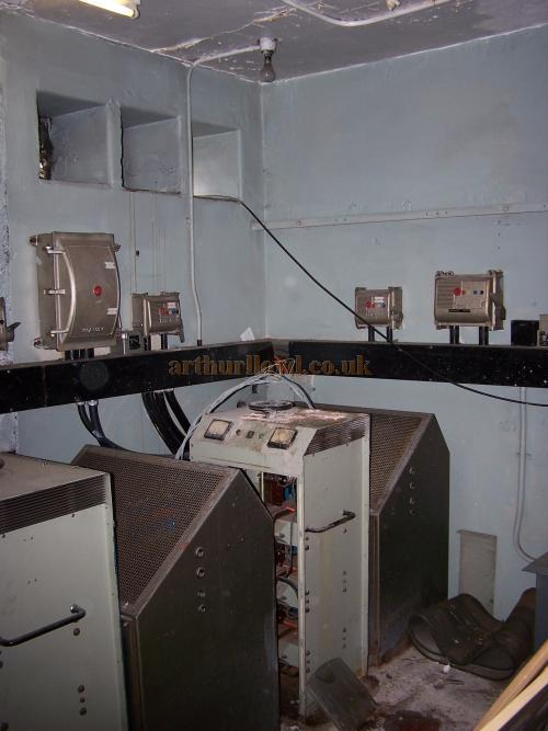 The original projector rectifiers still situated in a room beside the old projection box of the Leicester Square Theatre in July 2009  - Photo M.L.