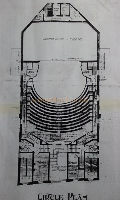The Circle Plan of the Grand Theatre & Hippodrome, Leigh - Courtesy George Richmond, with kind permission The Leigh Local Studies Wigan Leisure and Culture Trust