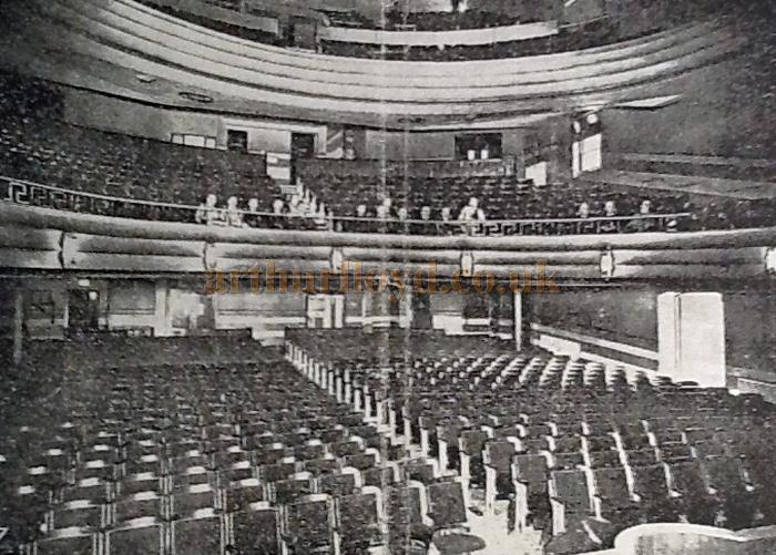 The auditorium of the New Hippodrome in 1939 - Courtesy George Richmond, with kind permission The Leigh Local Studies Wigan Leisure and Culture Trust.