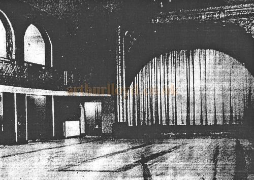 The Casino Ballroom, Leigh, showing the 1901 Proscenium arch Decoration - With kind permission Wigan Archive Services.